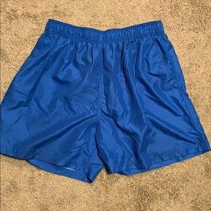 Men's blue bathing suit